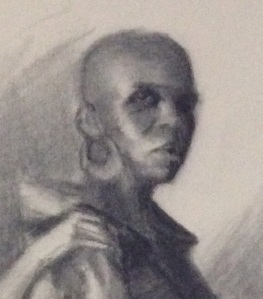 Extreme closeup of drawing study